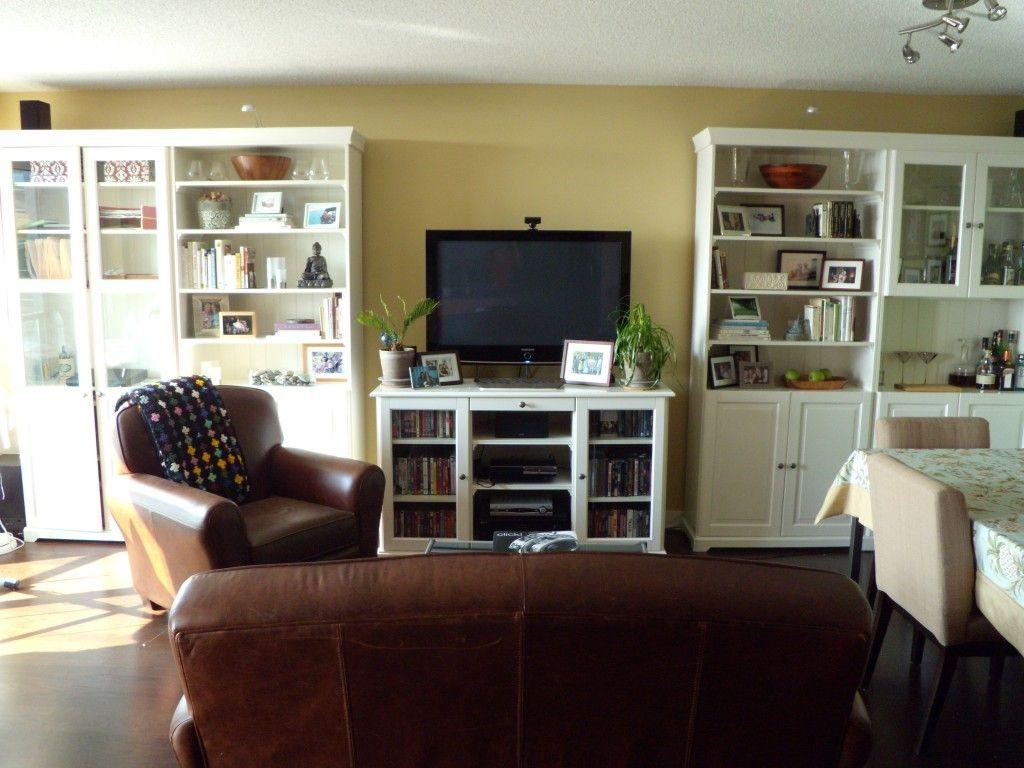 Condo Staging Ikea Liatorp Bookshelves Livingdining Area Alluring Ikea Living Dining Room Inspiration Design