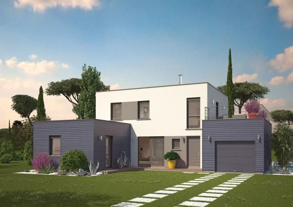 Maison moderne Nantes Beaulieu 44 esthétique générale maison