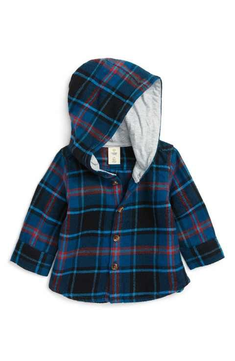 9d301f6cf13a Tucker + Tate Hooded Flannel Shirt (Baby Boys)