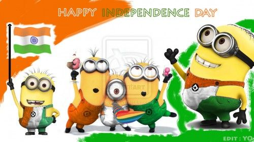 Happy Indian Independence Day Minions India 15 August 500x280 Independence Day India Hd W Indian Independence Day Happy Independence Day India Independence Day