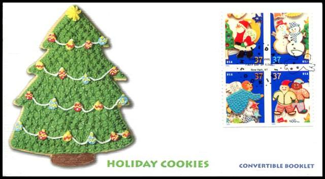 3956a / 37c Holiday Cookies New York, NY Postmark