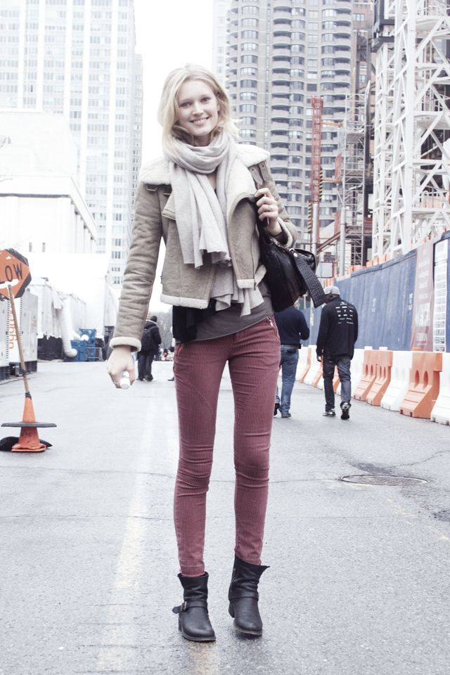 Toni Garnn's street style.