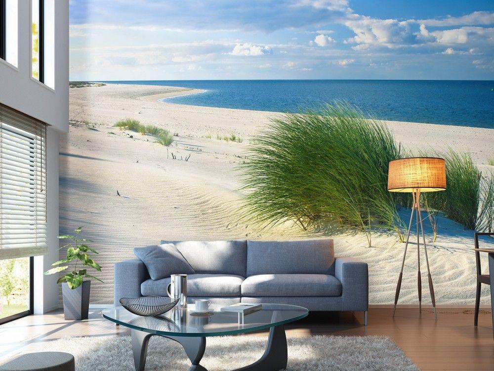 inspiration pour cet t paysages marins papier peint avec mer bleue et plage sablonneuse. Black Bedroom Furniture Sets. Home Design Ideas