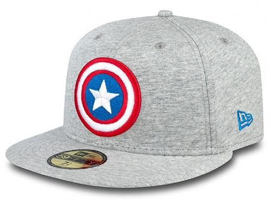 check out d1173 1150a Jersey Character Captain America 59Fifty Fitted Cap by MARVEL x NEW ERA