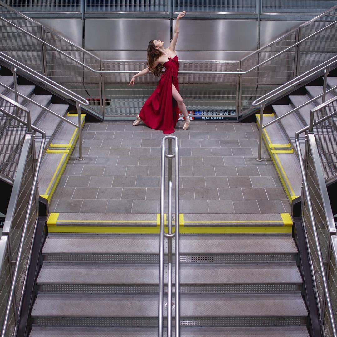 Every platform is a stage   @theballerina #UndergroundBalletLife by underground_nyc