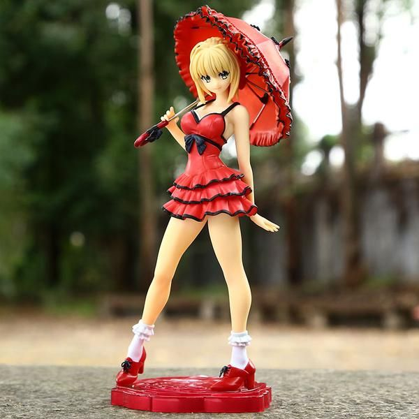 Fate Saber Nero Dress with Red Umbrella 25CM Action Figure    #fate #saber #action #figure #actionfigures #collectibles #stay #night #zero #anime #merchandise     https://www.animeprinthouse.com/products/fate-saber-nero-dress-with-red-umbrella-25cm-action-figure