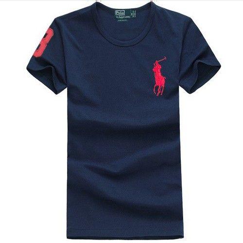 Ralph Lauren Custom-Fit Big Pony Polo 9010 In Deep blue
