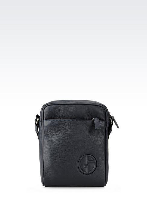 9c05dca7add3 Giorgio Armani Men Messenger Bag - SHOULDER BAG IN TUMBLED CALFSKIN Giorgio  Armani Official Online Store