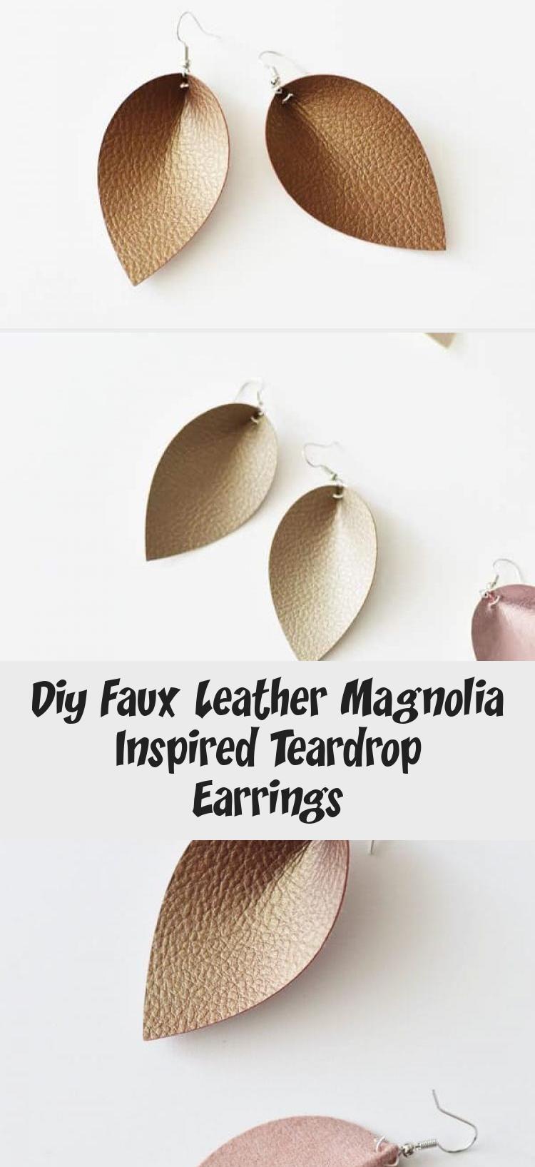 Photo of Diy Faux Leather Magnolia Inspired Teardrop Earrings – Jewelrys