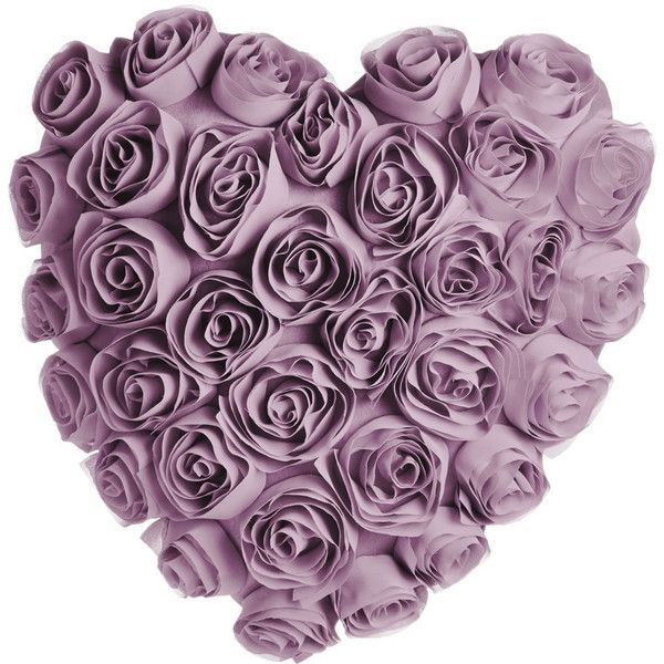 Wilko Heart Shaped Rose Cushion Lilac 7 78 Liked On Polyvore Featuring Home Home Decor Throw P Purple Throw Pillows Lavender Throw Pillows Lilac Bedroom