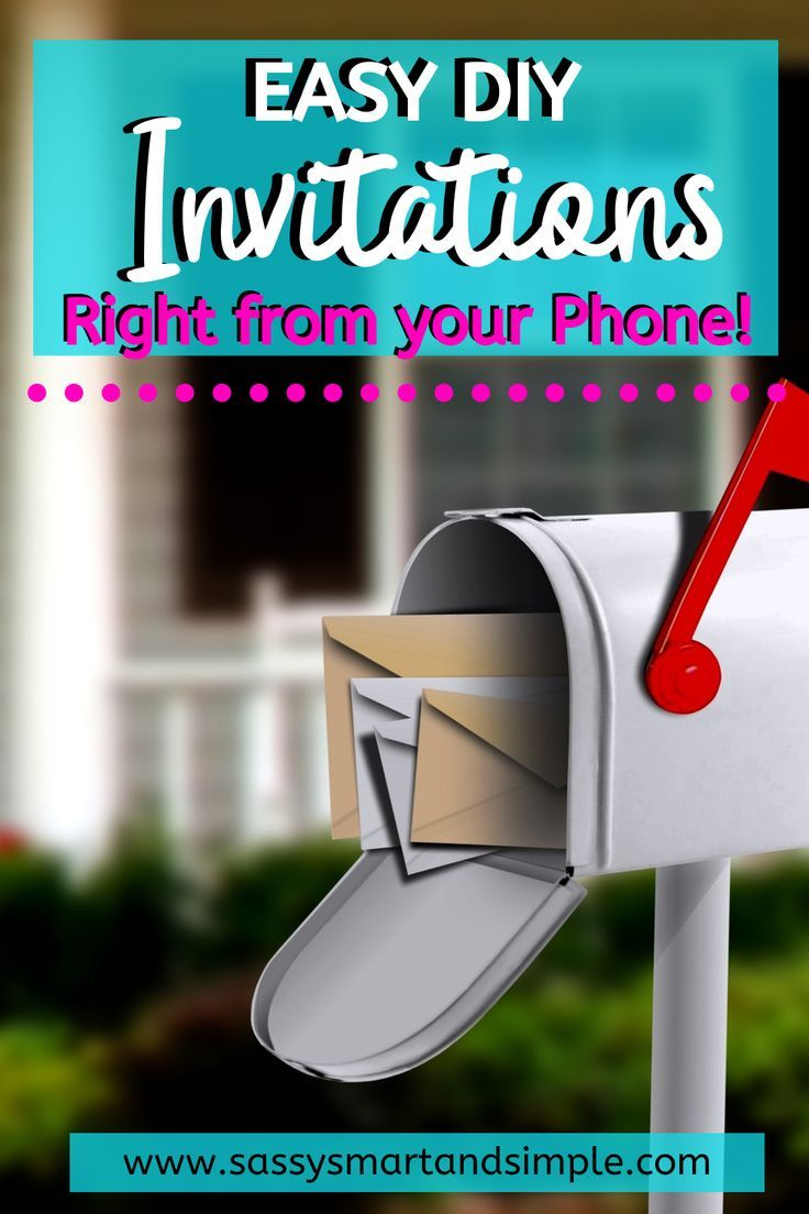 Diy invitations from a template on your phone cute thank