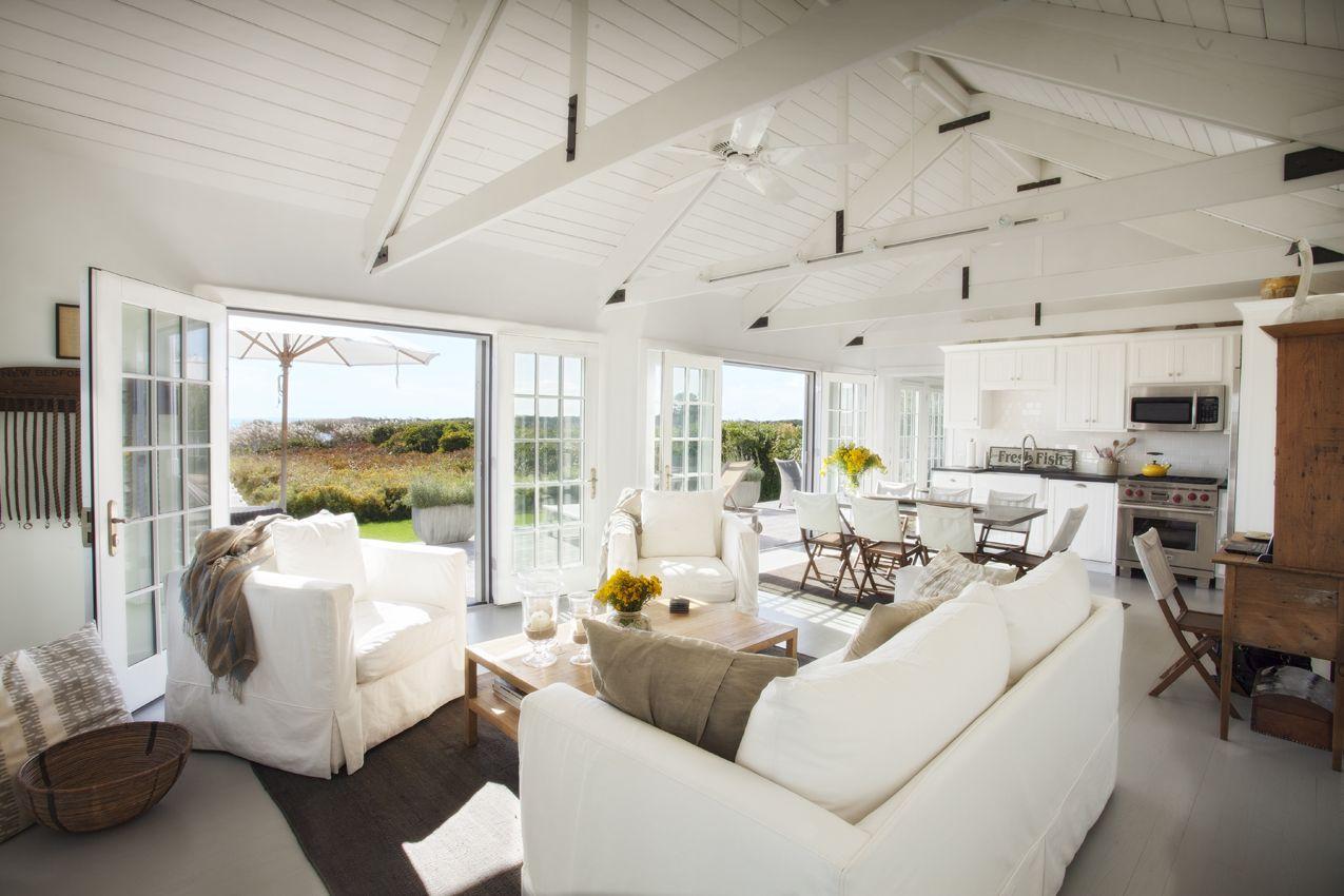 Open truss ceiling | Madaket Cottage | Pinterest | Ceiling, Living ...