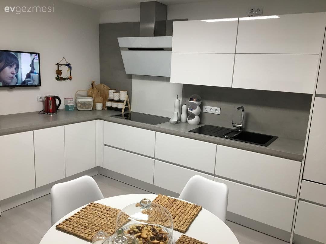 Beyaz Mutfak Dolapları, 1000+ Beyaz Mutfak Modeli