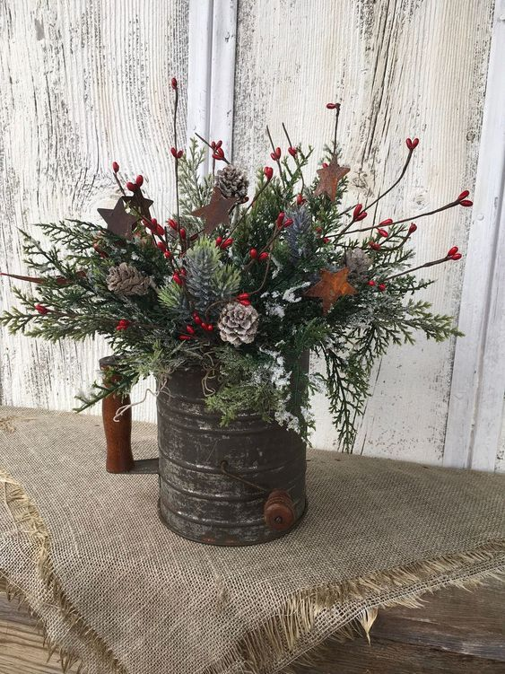 30+ Stunning Christmas Decor Ideas With Farmhouse Style