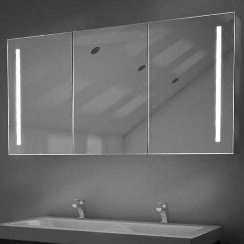 Luxe 120 x 70 cm spiegelkast met verlichting spiegelverwarming en ...
