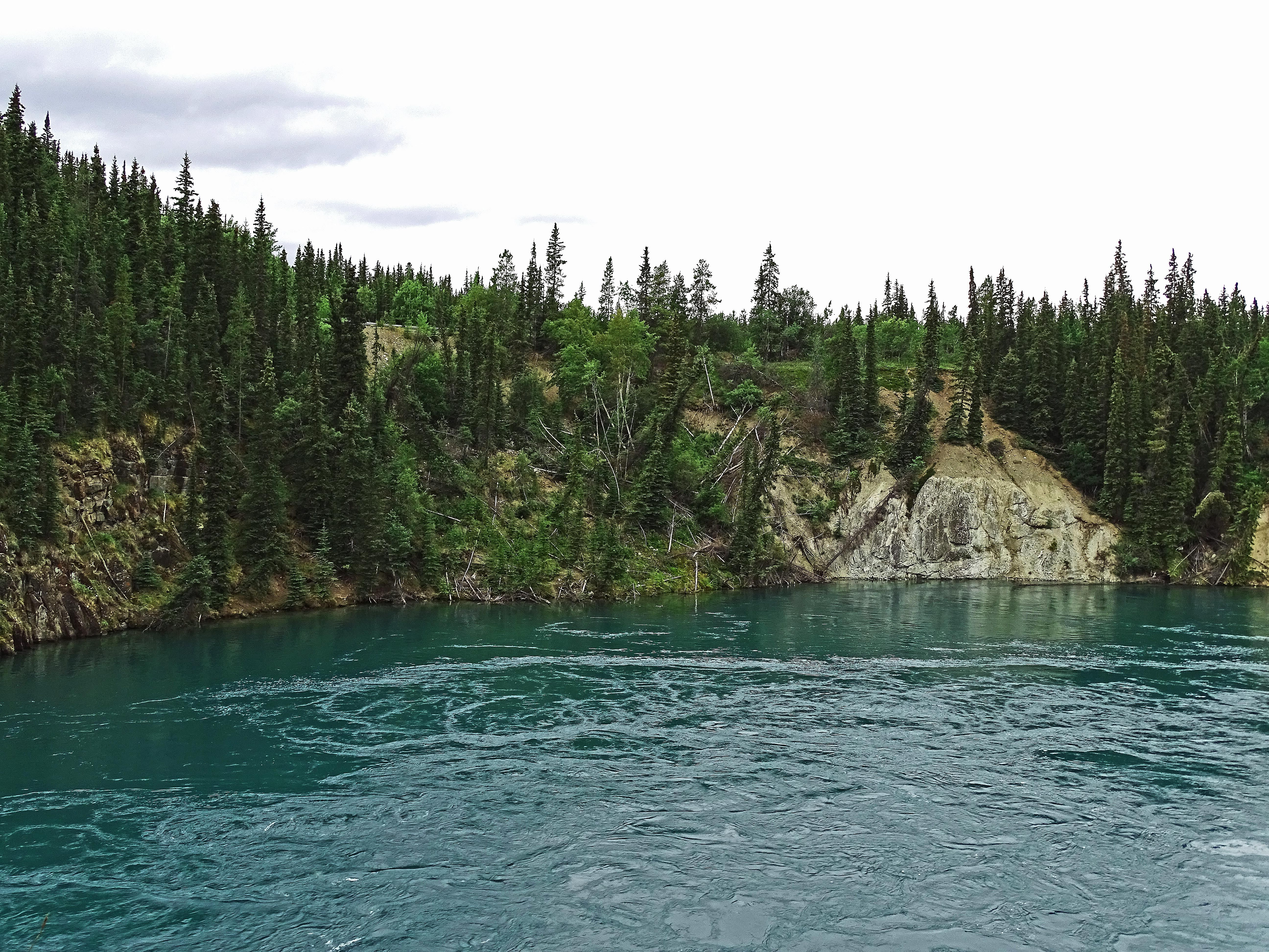 The water really is that turquoise color--it comes from glacier-fed waters
