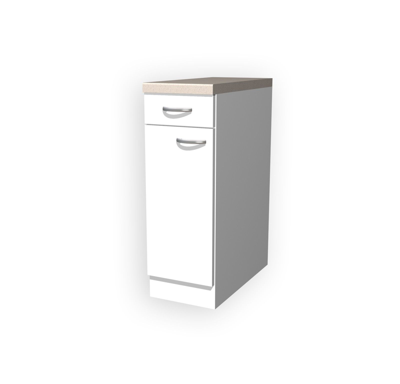 Küchen Unterschrank Unna 1 Türig 30 Cm Breit Weiß Küche 1000