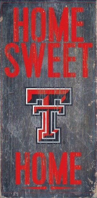 Texas Tech Red Raiders Wood Sign - Home Sweet Home 6x12 Z157-7846004825