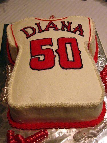 Angels Baseball Jersey 50th Birthday Cake 50th Birthday Cake