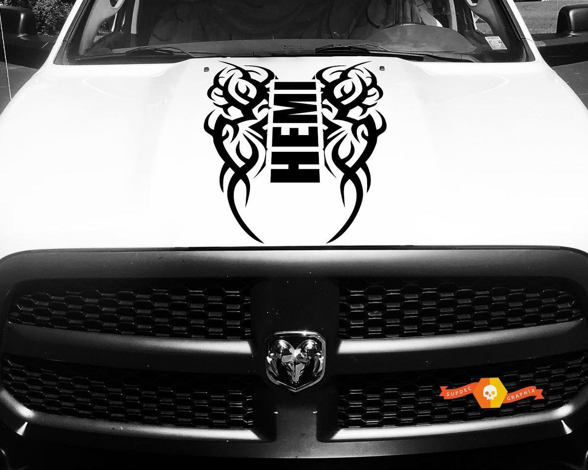 Dodge Ram Vinyl Hood Decal Tribal Sticker Tattoo Hemi Racing Stripe 4x4 64 Dodge Ram 1500 Hemi Racing Stickers Dodge Ram [ 960 x 1200 Pixel ]