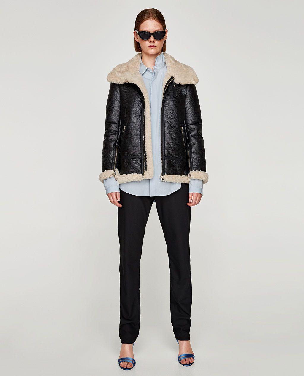 Fashion Schweiz Pilotenstil Im Damen Zara Jacken Jacke w0vqYpF