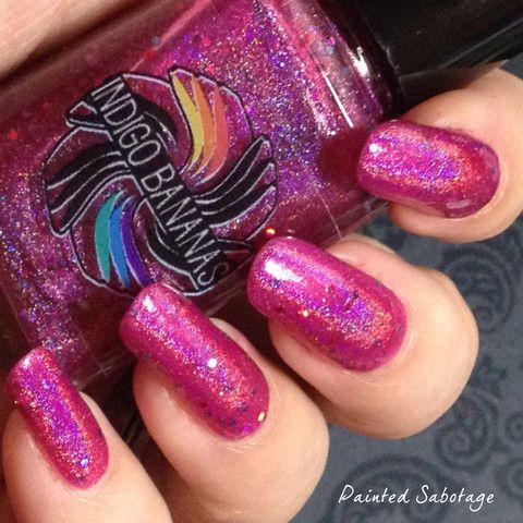 Hot Ice Creams for Cold Days - fuchsia/pink linear holographic & glitt – Indigo Bananas