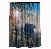 Black Bear Shower Curtain For The Bathroom Decor Lyblkbearbath