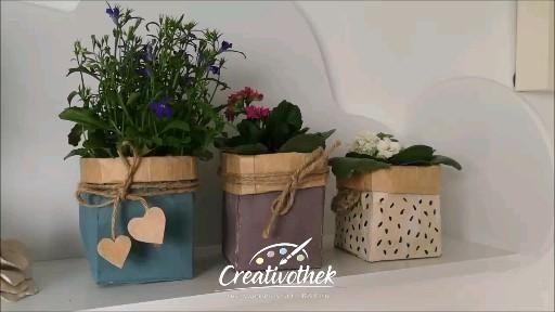 Pflanzkörbchen aus Milchkartons