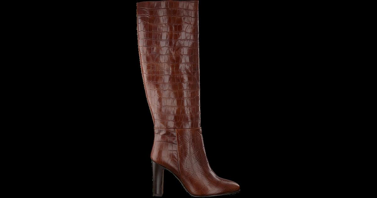 Bruine laarzen, spitse punt , italiaans leer. | Fashionlab