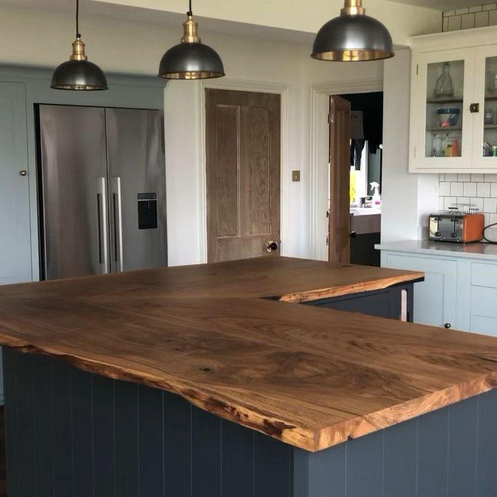 31 Admirable Kitchen Island Ideas To Beautify Your Kitchen Wood Kitchen Island Large Kitchen Design Kitchen Island Tops