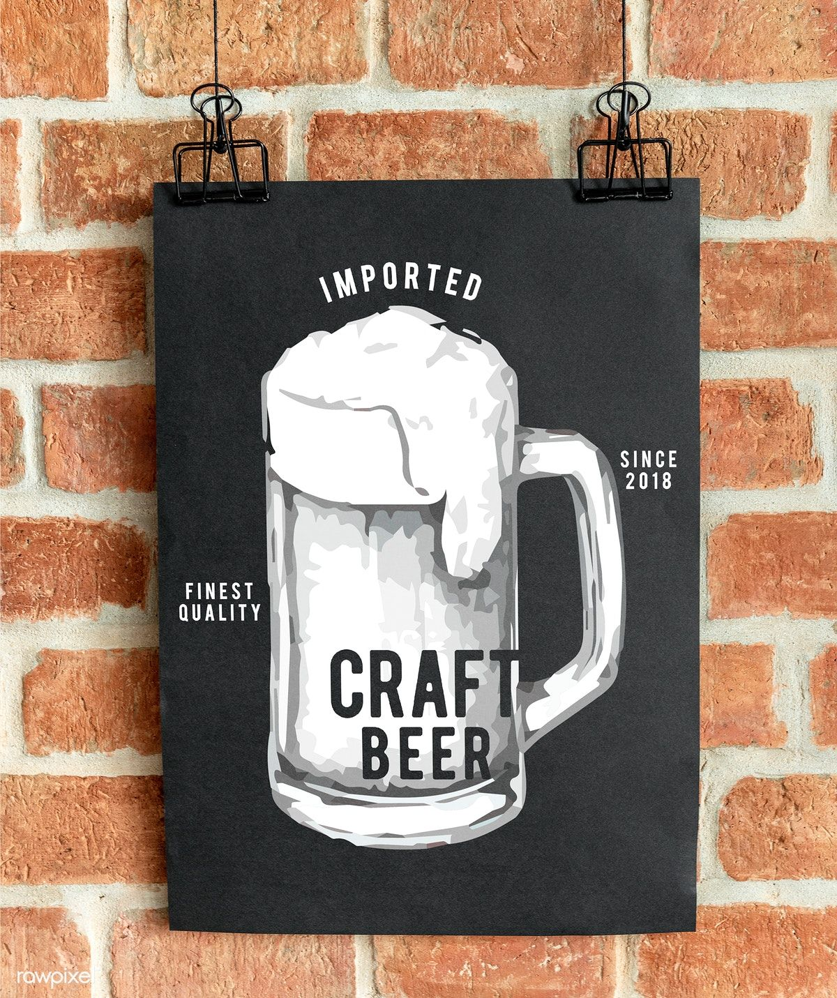 Craft Beer Pub Poster Mockup Free Image By Rawpixel Com Ake In 2021 Beer Pub Poster Mockup Craft Beer