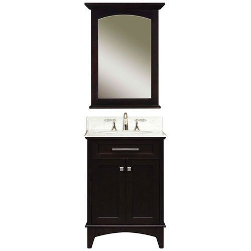 24 Inch Dark Espresso Single Sink Bathroom Vanity | Manhattan Espresso  Single Sink 24 Inch Bathroom Vanity Combo Water .