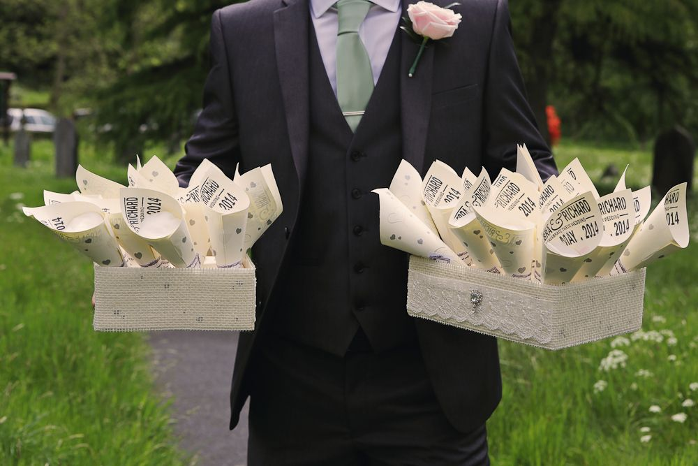 Groomsmen - Suits that work with a pastel colour scheme.  #groomsmen #suits #wedding