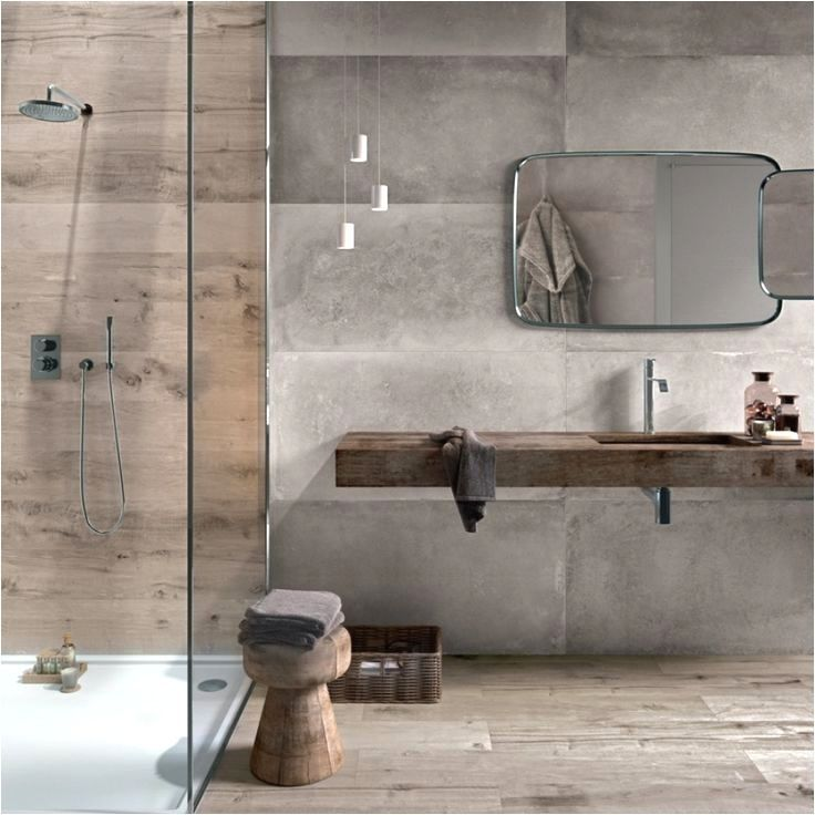 Photo of A wall niche in the shower offers space for shower gel and co