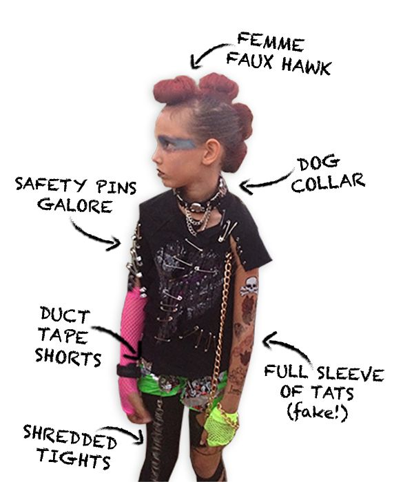 Diy Punk Rocker Costume Via Elumdesigns