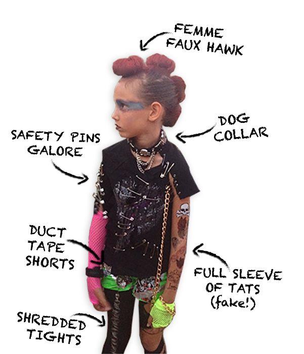 Diy Punk Rocker Costume Via Elumdesigns