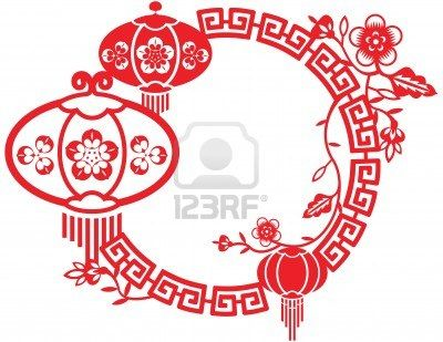 chinese new year and mid autumn festival design pattern stock photo