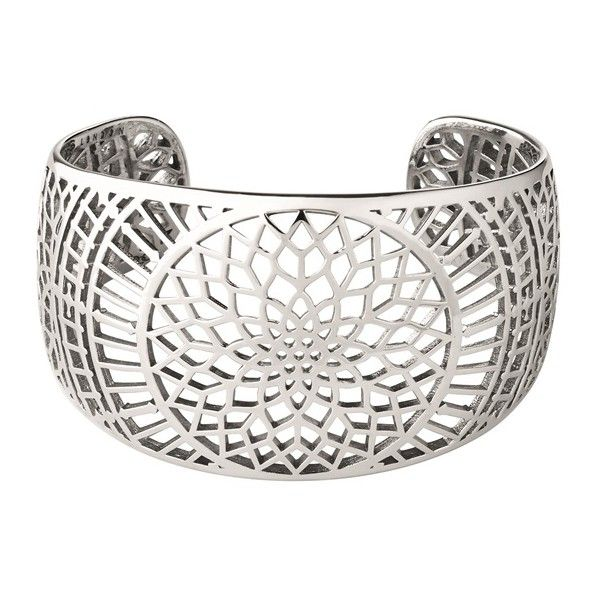 Timeless Sterling Silver Cuff Bracelet (€515) ❤ liked on Polyvore featuring jewelry, bracelets, hinged cuff bracelet, sterling silver cuff bracelet, cuff bracelet, sterling silver jewelry and cuff bangle bracelet