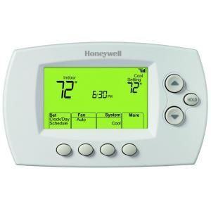 Wi Fi 7 Day Programmable Thermostat Rth6580wf At The Home Depot