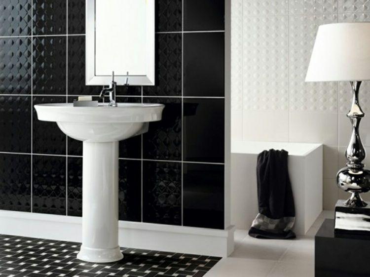 Stunning Salle De Bain Retro Noir Et Blanc Images - Amazing House ...