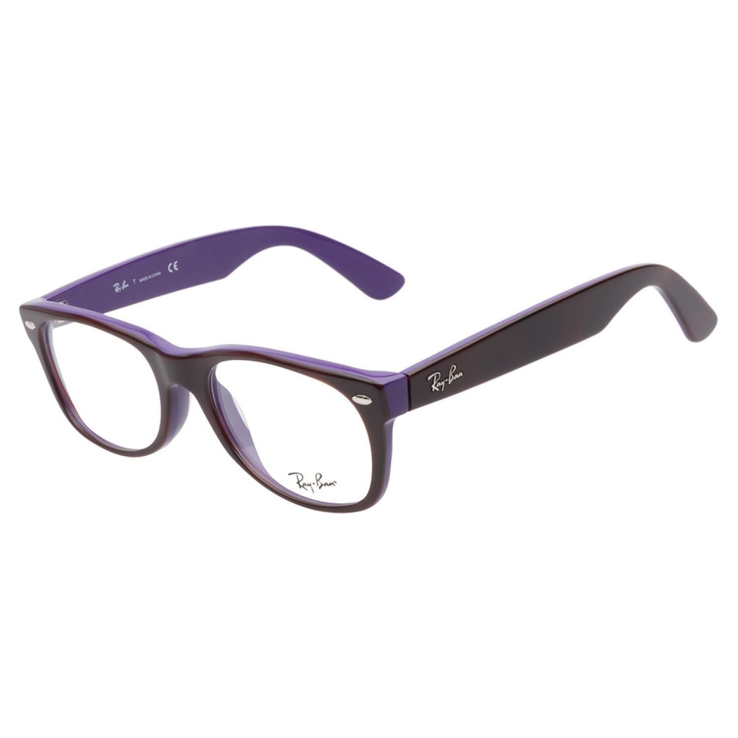 Ray-Ban RB5184 5215 Havana Purple eyeglasses are bold and casual. This  prominent style has a deep purple interior and dark havana exterior. 850a975320