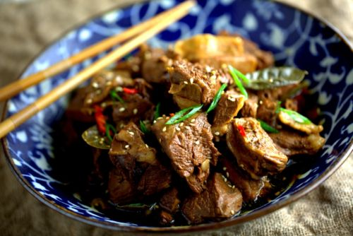 Beef flank stew (牛腩) with Asian spices and soy sauce, my ...
