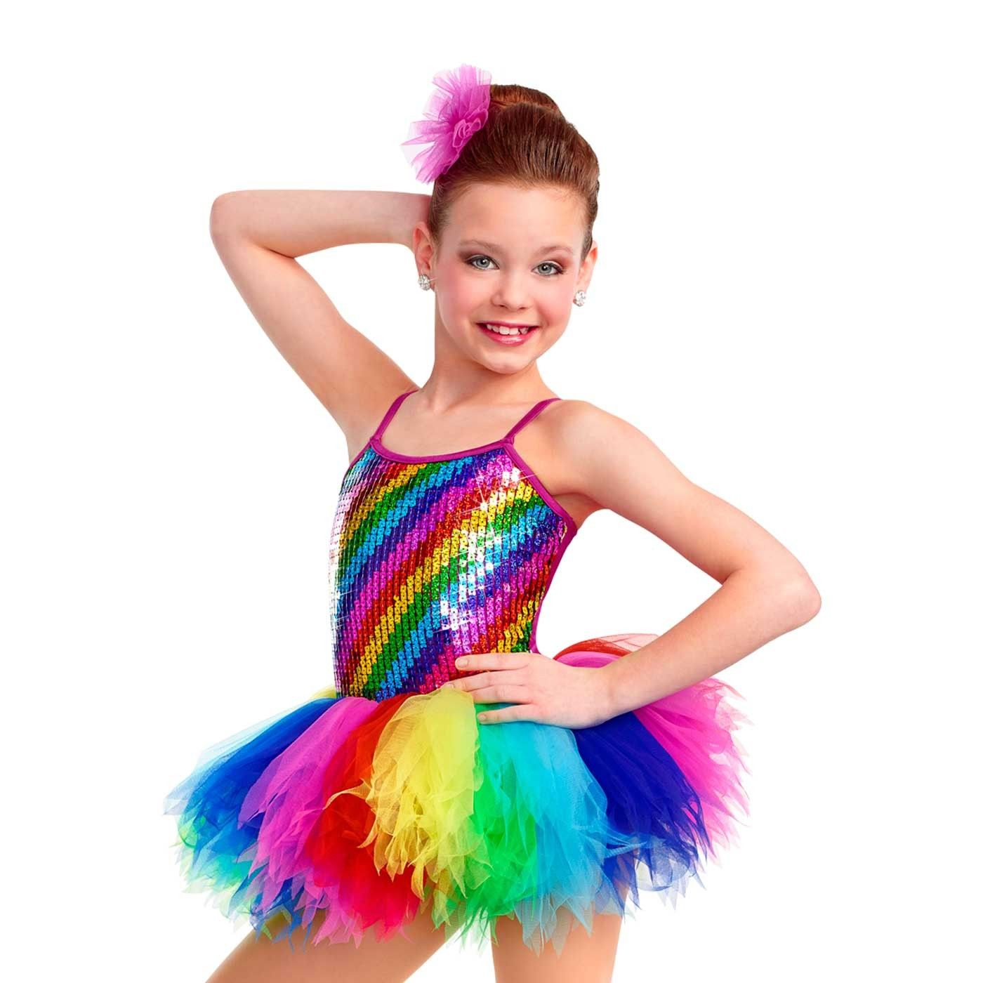 Color my world tap jazz recital costumes girl