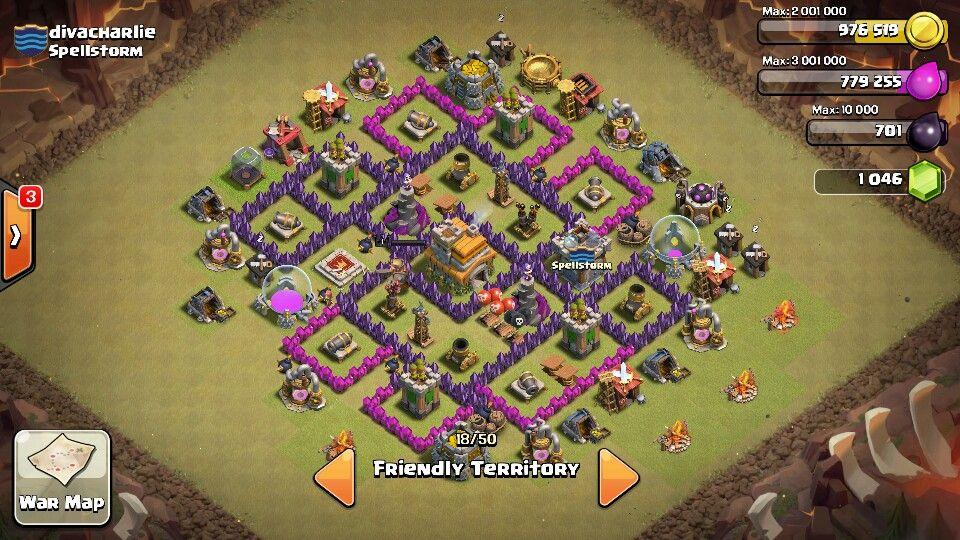War base town hall 7 th7 coc pinterest