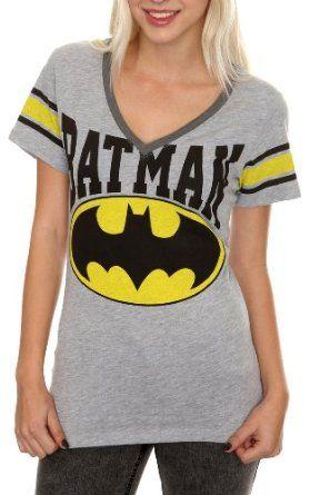 0f345777 DC Comics Batman Grey Hockey Girls T-Shirt | It's a NERD thing ;P ...