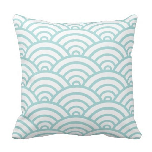 Tiffany Blue Scallop Pattern Throw Pillows 4040 Pillow Pillows Best Tiffany Blue Decorative Pillows