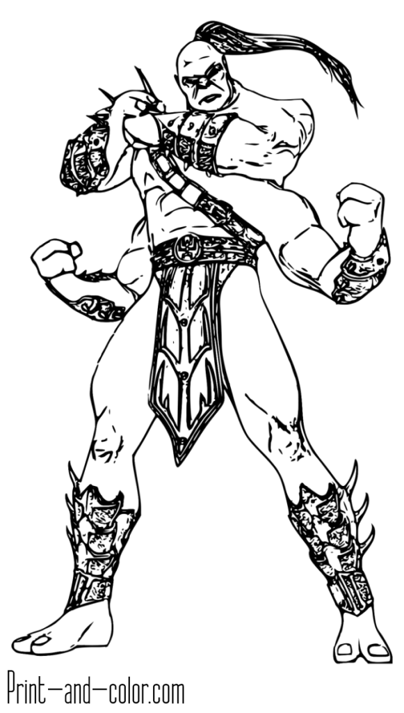 Mortal Kombat Coloring Page Goro In 2019 Coloring Pages