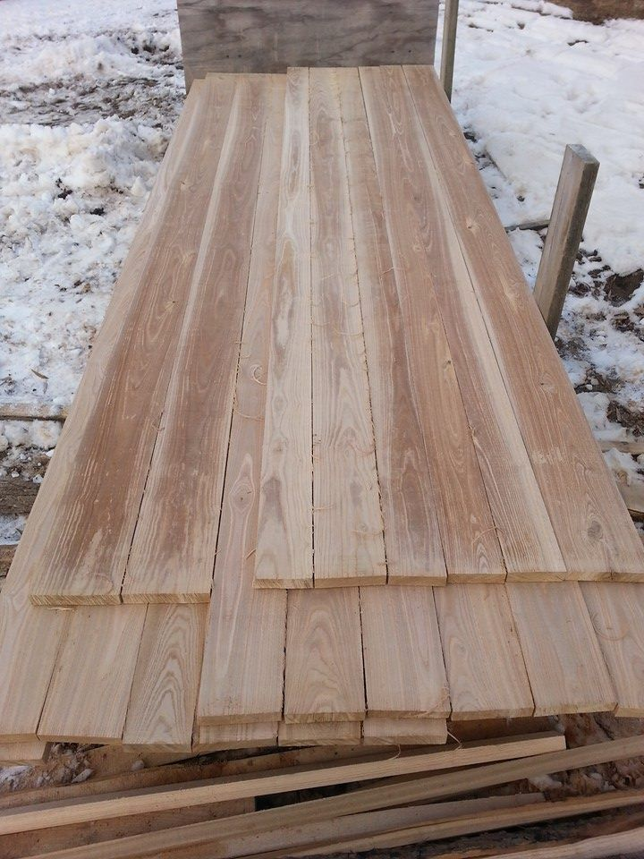 Black ash lumber milled for hardwood flooring