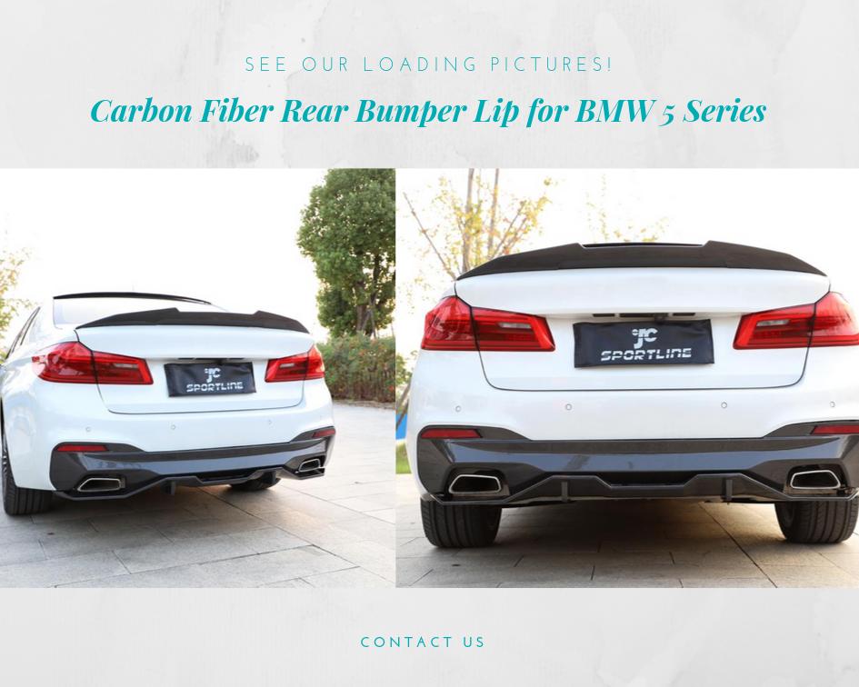 Carbon Fiber Rear Trunk Spoiler For BMW G30 530i 540i 5 series 2017-2018 Type B