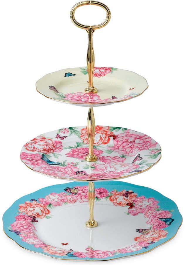Royal Albert Cake Stand #ad #royalalbert #kitchens #dinnerware #cake #cakestand #3tierstand #floral